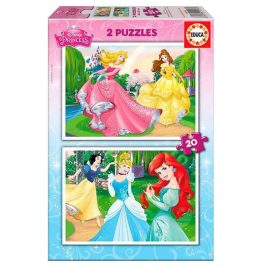 PUZZLES 2×20 PRINCESAS DISNEY EDUCA