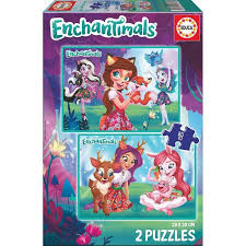 PUZZLES 2×48 ENCHANTIMALS EDUCA