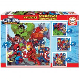 PUZZLES EDUCA PROGRESIVOS SUPER HEROES MARVEL